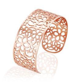 Bracelet Manchette Brenda Acier Rose - Bracelets fantaisie Femme | Histoire d'Or