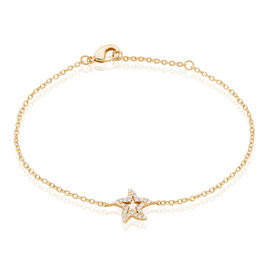 Bracelet Plaqué Or Jaune Oxyde De Zirconium - Bijoux Etoile Femme | Histoire d'Or