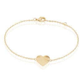 Bracelet Vahahina Plaque Or Jaune - Bracelets Coeur Femme | Histoire d'Or