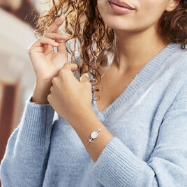 Bracelet Hacena Argent Blanc Oxyde De Zirconium - Bracelets Trèfle Femme | Histoire d'Or