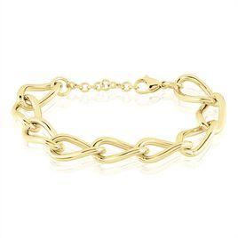 Bracelet Justinien Acier Doré - Bracelets fantaisie Femme   Histoire d'Or
