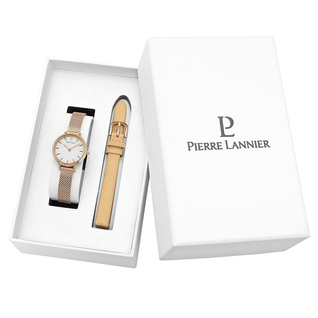 Coffret De Montre Pierre Lannier Coffret Nova Blanc - Montres classiques Femme | Histoire d'Or