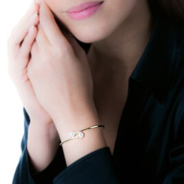 Bracelet Jonc Sammy Or Jaune Perle De Culture - Bracelets joncs Femme | Histoire d'Or