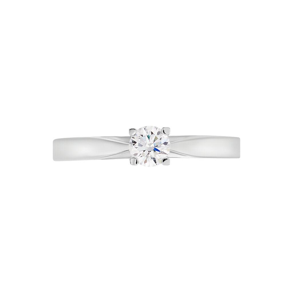 Bague Solitaire Celina Or Blanc Diamant - Bagues avec pierre Femme | Histoire d'Or