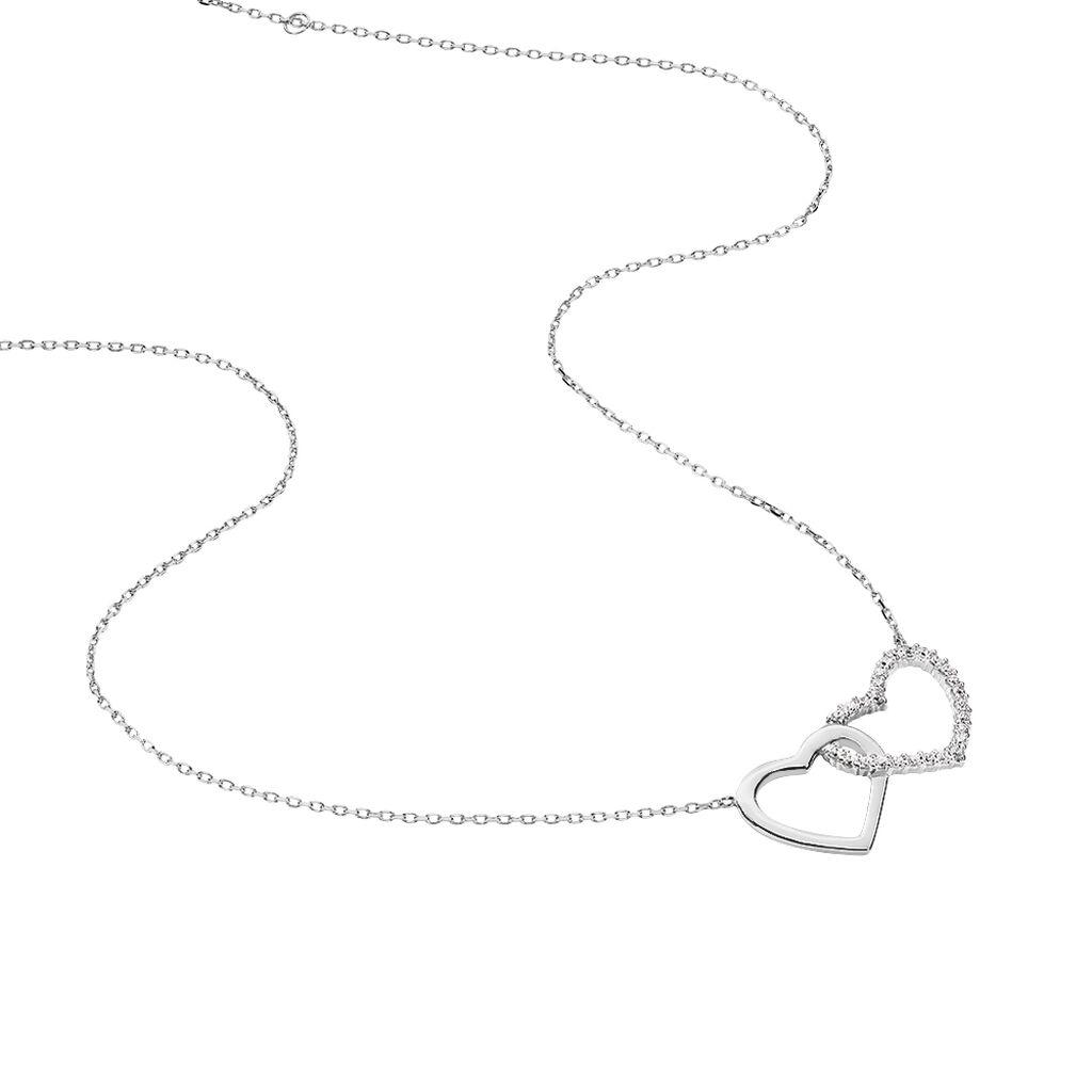 Collier Azilis Argent Blanc - Colliers Coeur Femme | Histoire d'Or