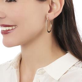 Créoles Suzana Lisses Fil Triangle Or Jaune - Boucles d'oreilles créoles Femme | Histoire d'Or