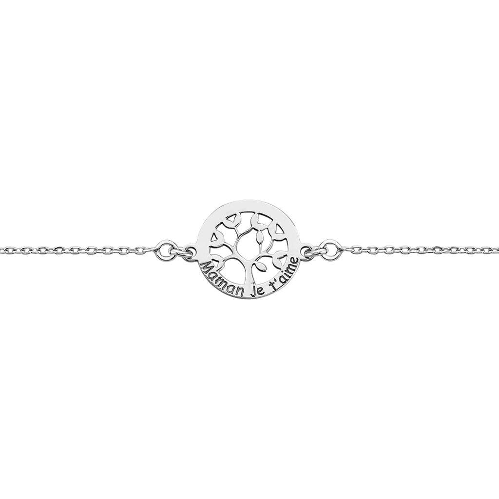 Bracelet Afaf Argent Blanc - Bracelets Arbre de vie Femme   Histoire d'Or