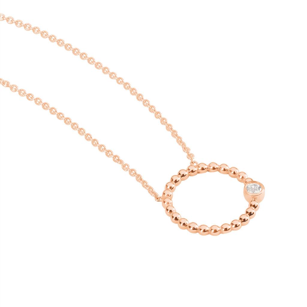 Collier Valance Argent Rose Oxyde De Zirconium - Colliers fantaisie Femme | Histoire d'Or