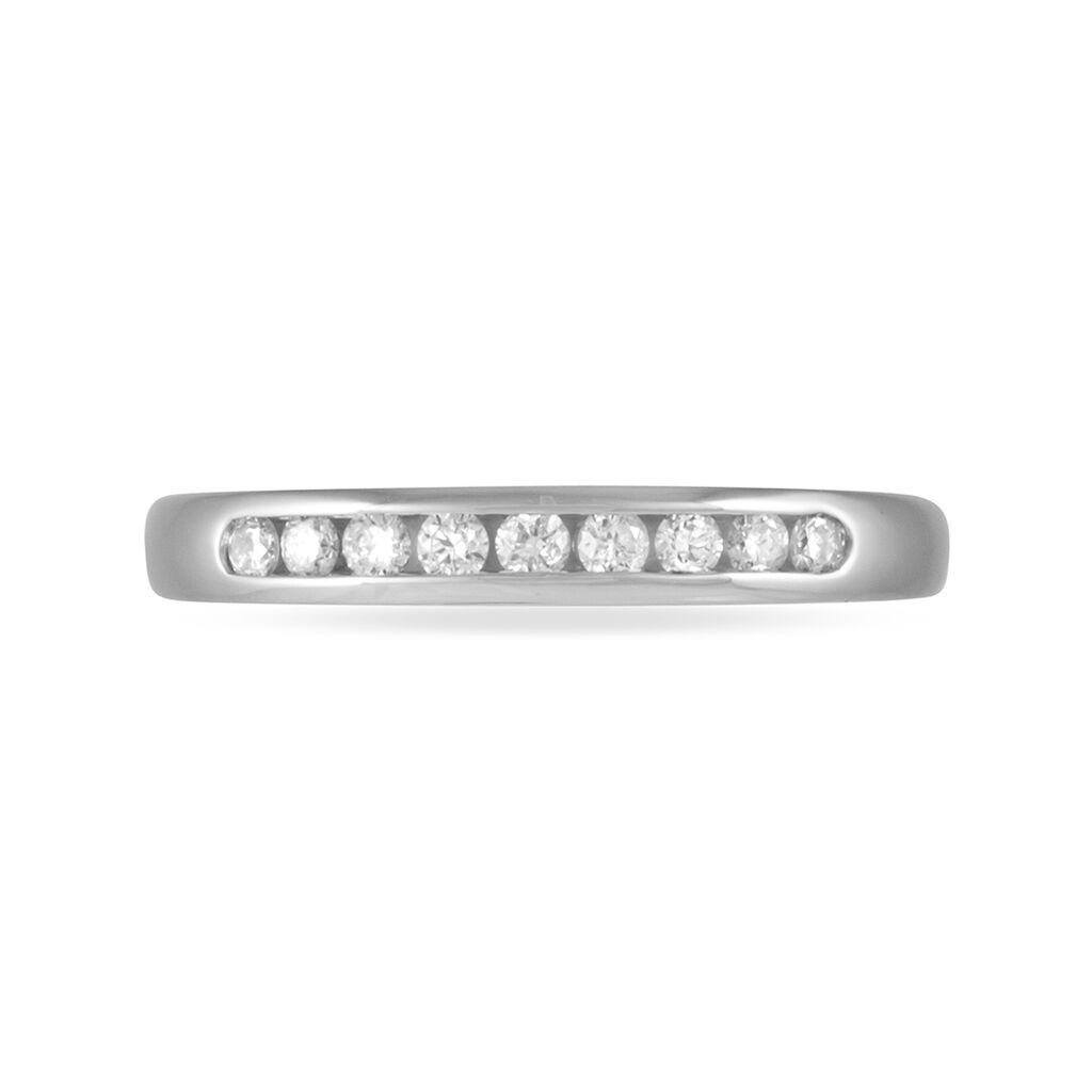 Alliance Giulia Or Blanc Diamant - Alliances Femme   Histoire d'Or