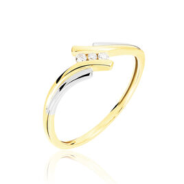 Bague Calliope Or Bicolore Diamant - Bagues avec pierre Femme | Histoire d'Or