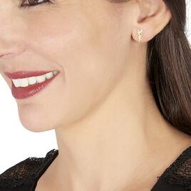 Boucles D'oreilles Puces Gabinienne Fee Or Jaune - Clous d'oreilles Femme | Histoire d'Or