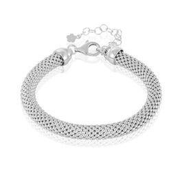 Bracelet Nahila Maille Popcorn Argent Blanc - Bracelets chaîne Femme | Histoire d'Or
