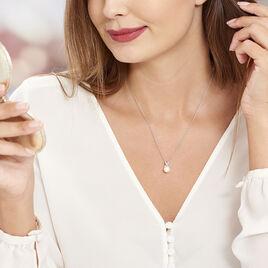 Collier Sathine Argent Blanc Perle De Culture Et Oxyde De Zirconium - Colliers fantaisie Femme   Histoire d'Or