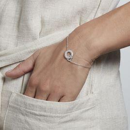 Bracelet Argent Rhodié Kasper Oxydes De Zirconium - Bracelets fantaisie Femme | Histoire d'Or