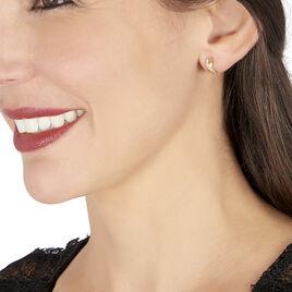 Créoles Izefia Rondes Or Jaune Oxyde De Zirconium - Boucles d'oreilles créoles Femme   Histoire d'Or