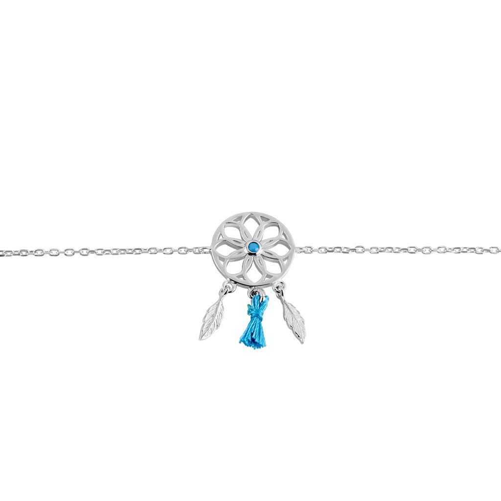 Bracelet Arshia Argent Blanc Oxyde De Zirconium - Bracelets Attrape rêves Femme | Histoire d'Or