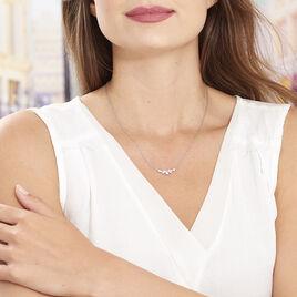 Collier Amissa Argent Blanc Oxyde De Zirconium - Colliers fantaisie Femme | Histoire d'Or