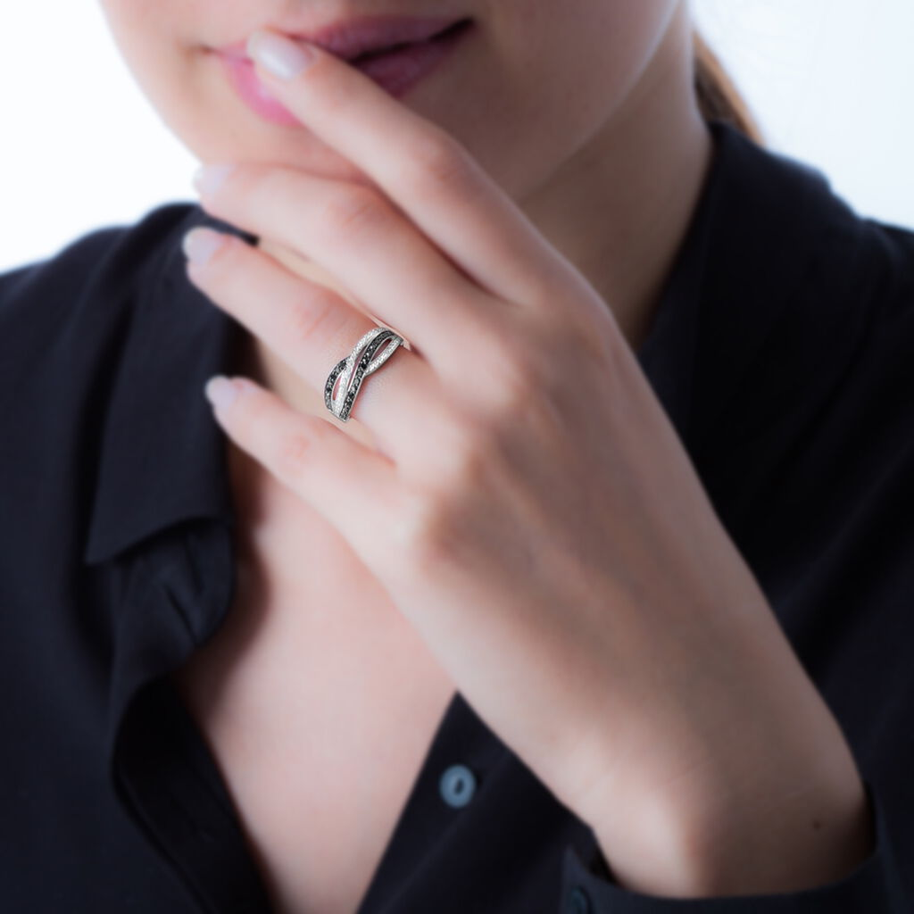 Bague Vogue Or Blanc Diamant - Bagues avec pierre Femme | Histoire d'Or