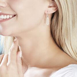 Boucles D'oreilles Pendantes Isabel Argent Blanc Oxyde De Zirconium - Boucles d'oreilles fantaisie Femme   Histoire d'Or