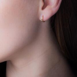 Créoles Or Jaune 1.5mm Diam 8mm - Boucles d'oreilles créoles Femme | Histoire d'Or