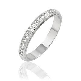 Alliance Ismene Or Blanc Diamant - Alliances Femme   Histoire d'Or