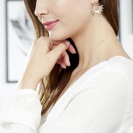 Boucles D'oreilles Pendantes Adena Plaque Or Jaune Oxyde De Zirconium - Boucles d'oreilles pendantes Femme | Histoire d'Or