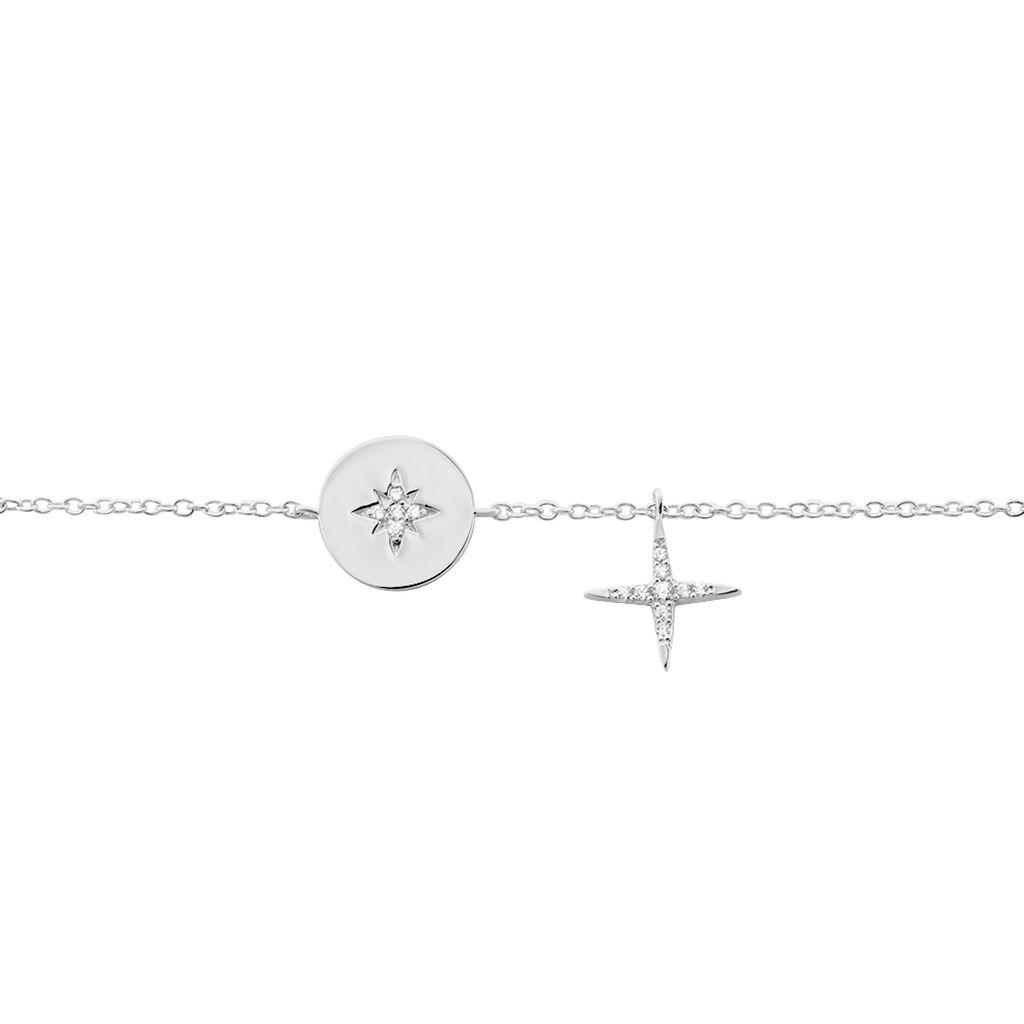 Bracelet Pluton Argent Blanc Oxyde De Zirconium - Bracelets fantaisie Femme   Histoire d'Or