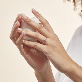 Bague Valeriana Or Blanc Oxyde De Zirconium - Bagues Coeur Femme | Histoire d'Or