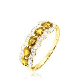 Bague Or Jaune Margaux Citrines - Bagues avec pierre Femme   Histoire d'Or