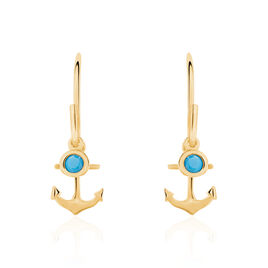 Boucles D'oreilles Plaque Or Garsendis Pendantes - Bijoux Ancre Femme | Histoire d'Or