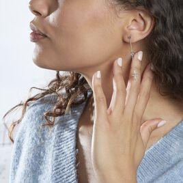 Boucles D'oreilles Pendantes Rosalia Argent Blanc Oxyde De Zirconium - Boucles d'oreilles fantaisie Femme | Histoire d'Or