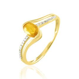 Bague Or Jaune Anja Citrine - Bagues avec pierre Femme   Histoire d'Or