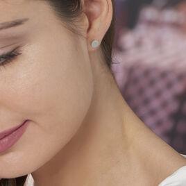 Boucles D'oreilles Puces Apoline Argent Blanc - Boucles d'oreilles fantaisie Femme | Histoire d'Or