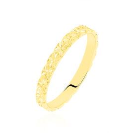 Alliance Fleur Diamantee Ruban Plat Or Jaune - Alliances Femme | Histoire d'Or