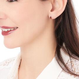 Boucles D'oreilles Puces Junie Argent Blanc Ambre - Boucles d'oreilles fantaisie Femme | Histoire d'Or