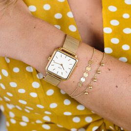 Montre Cluse La Tetragone Blanc - Montres tendances Femme | Histoire d'Or