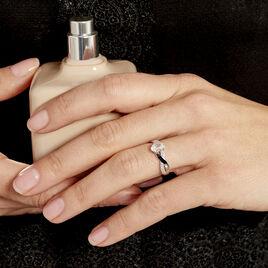 Bague Candice Or Blanc Oxyde Oxyde - Bagues avec pierre Femme | Histoire d'Or