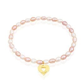 Bracelet Rudy Or Jaune Perle De Culture - Bracelets Coeur Femme   Histoire d'Or