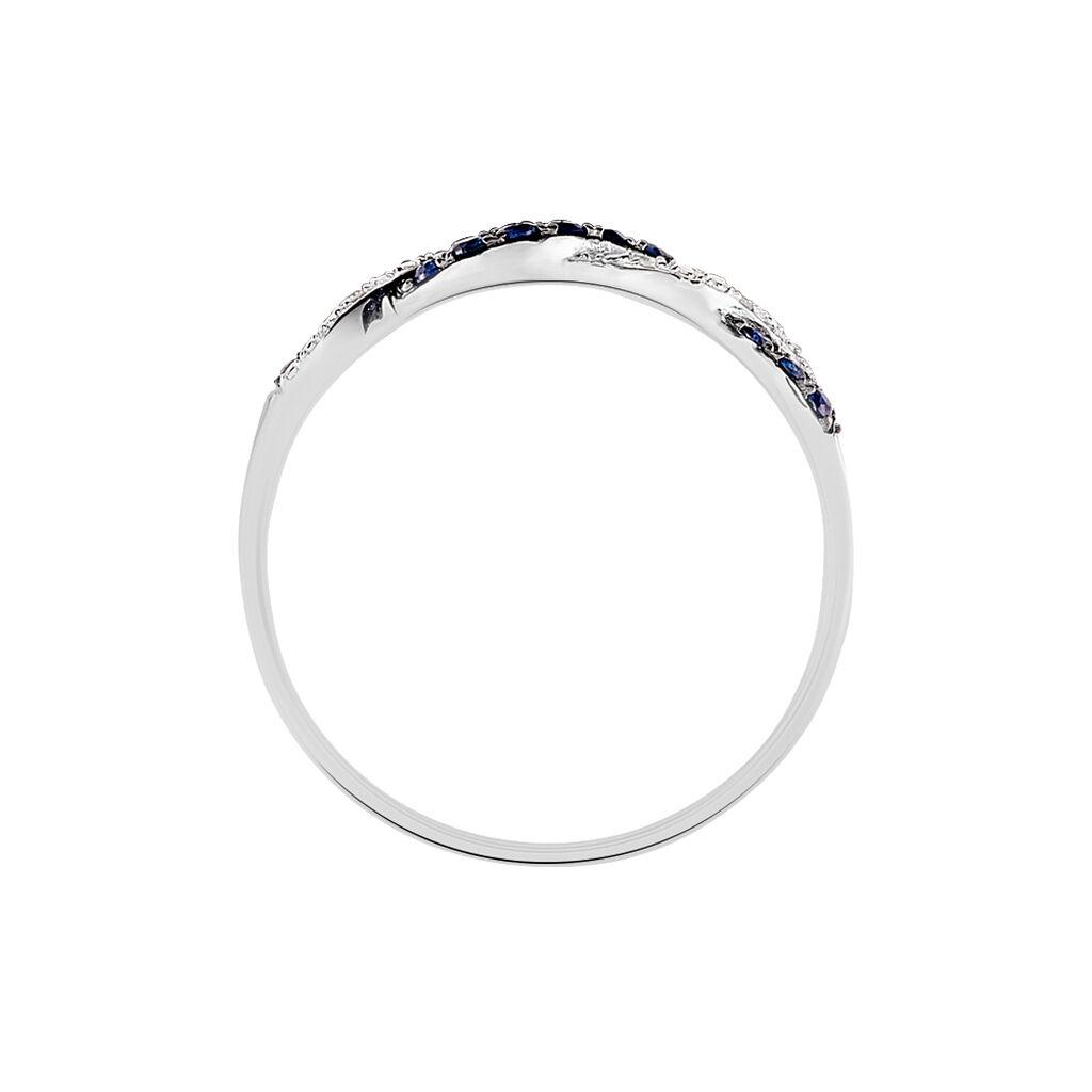 Bague Sofia Or Blanc Saphir Et Diamant - Bagues avec pierre Femme   Histoire d'Or