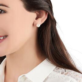 Boucles D'oreilles Puces Filippine Or Jaune Perle De Culture - Clous d'oreilles Femme | Histoire d'Or