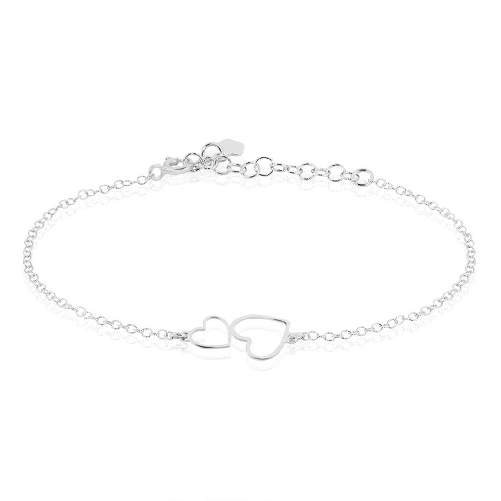 Bracelet Estina Argent Blanc - Bracelets Coeur Femme   Histoire d'Or