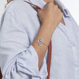 Bracelet Nemetona Argent Rhodié Oxyde - Bracelets Attrape rêves Femme | Histoire d'Or