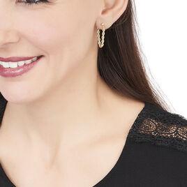 Boucles D'oreilles Pendantes Jerry Corde Or Jaune - Boucles d'oreilles pendantes Femme | Histoire d'Or