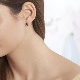 Boucles D'oreilles Puces Aliciana Argent Rose Oxyde De Zirconium - Boucles d'Oreilles Etoile Femme | Histoire d'Or