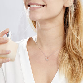 Collier Iella Argent Bicolore - Colliers Coeur Femme   Histoire d'Or