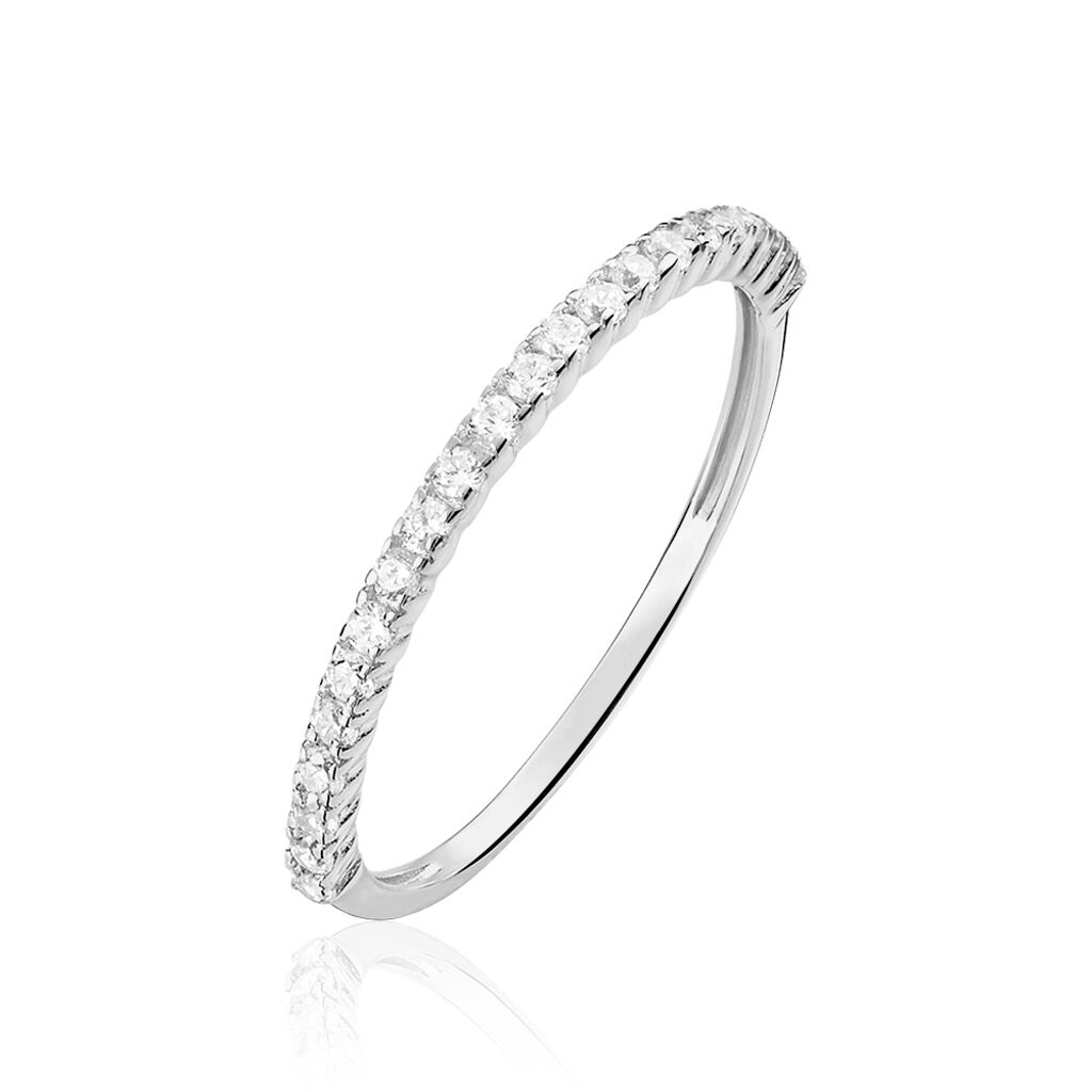 Alliance Julietta Or Blanc Oxyde De Zirconium - Alliances Femme | Histoire d'Or