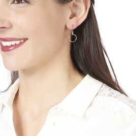 Boucles D'oreilles Pendantes Andrina Or Rose Diamant - Boucles d'oreilles pendantes Femme   Histoire d'Or