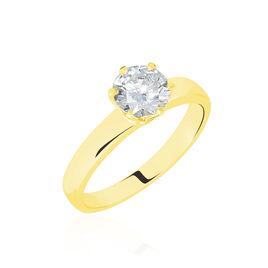 Bague Solitaire Natalia Or Jaune Diamant Synthetique - Bagues avec pierre Femme | Histoire d'Or