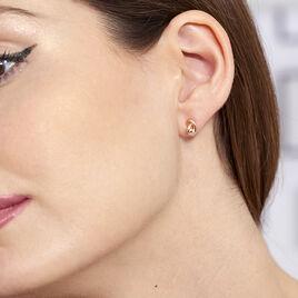 Boucles D'oreilles Puces Ania Argent Rose - Boucles d'oreilles fantaisie Femme   Histoire d'Or