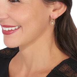 Boucles D'oreilles Pendantes Thalina Or Jaune Oxyde De Zirconium - Boucles d'Oreilles Etoile Femme | Histoire d'Or
